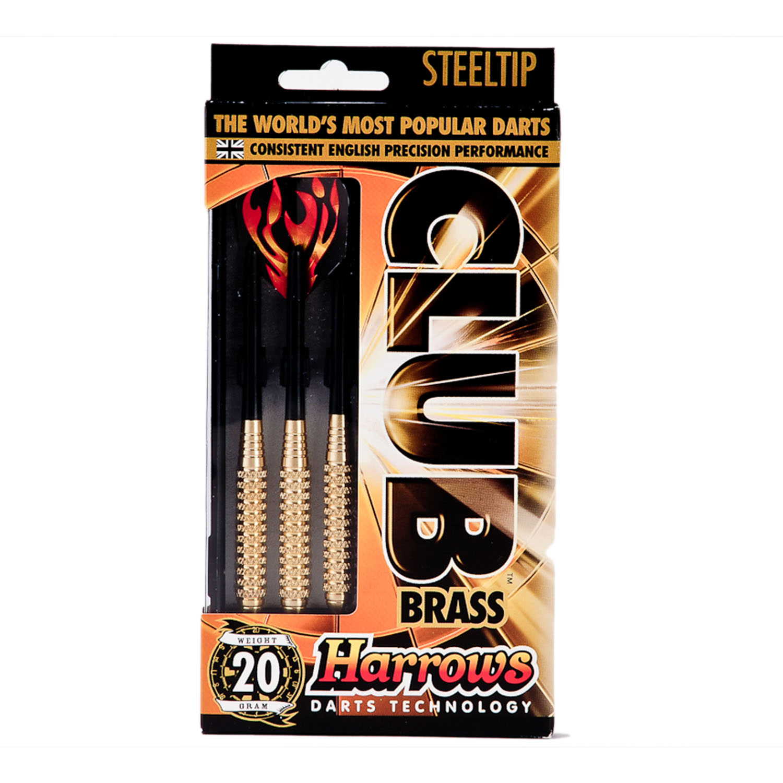 Harrows Club Steel Tip Brass Darts - 20g