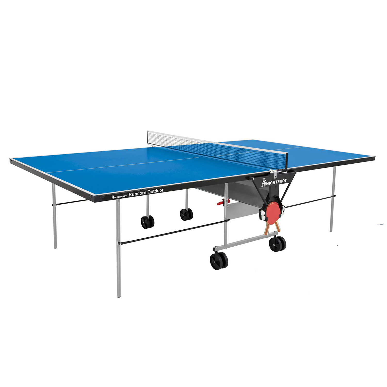Knightshot Runcorn Table Tennis Outdoor- 4Mm Blue With Net