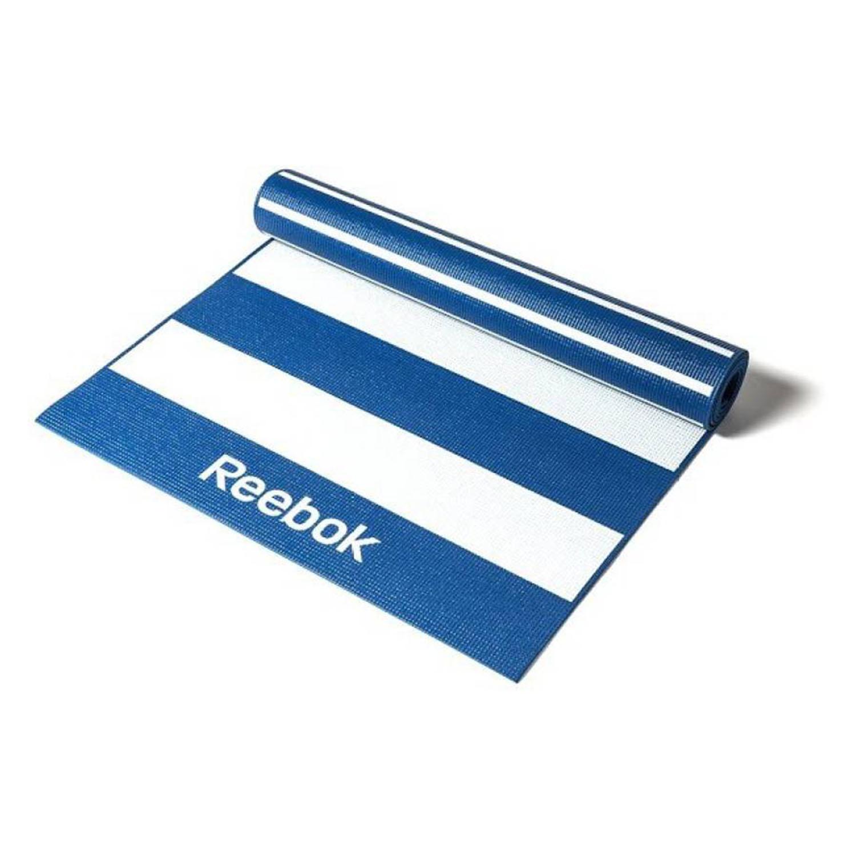 Reebok Fitness Double Sided 4mm Yoga Mat-Stripes-Blue