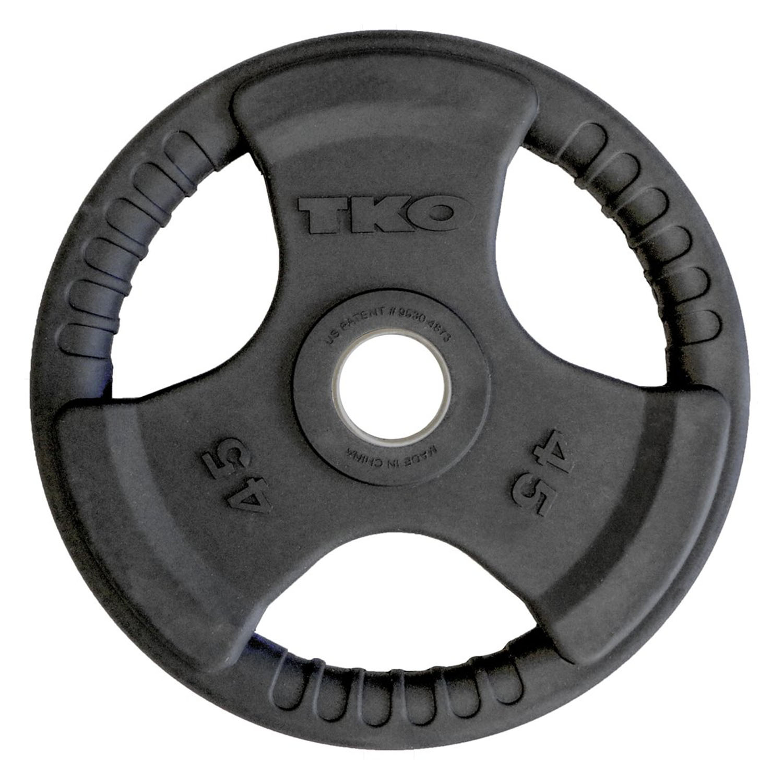 TKO Olympic Rubber Tri-Grip Plate