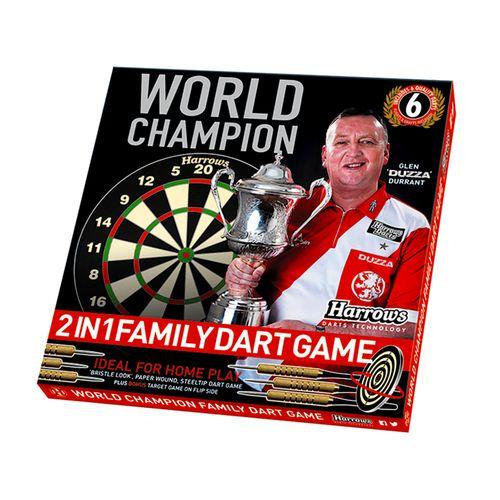 Harrows World Champion Family Dartboard Game 2 IN 1